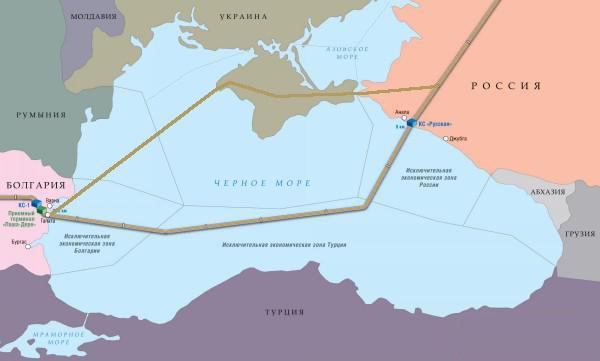 Южный поток схема