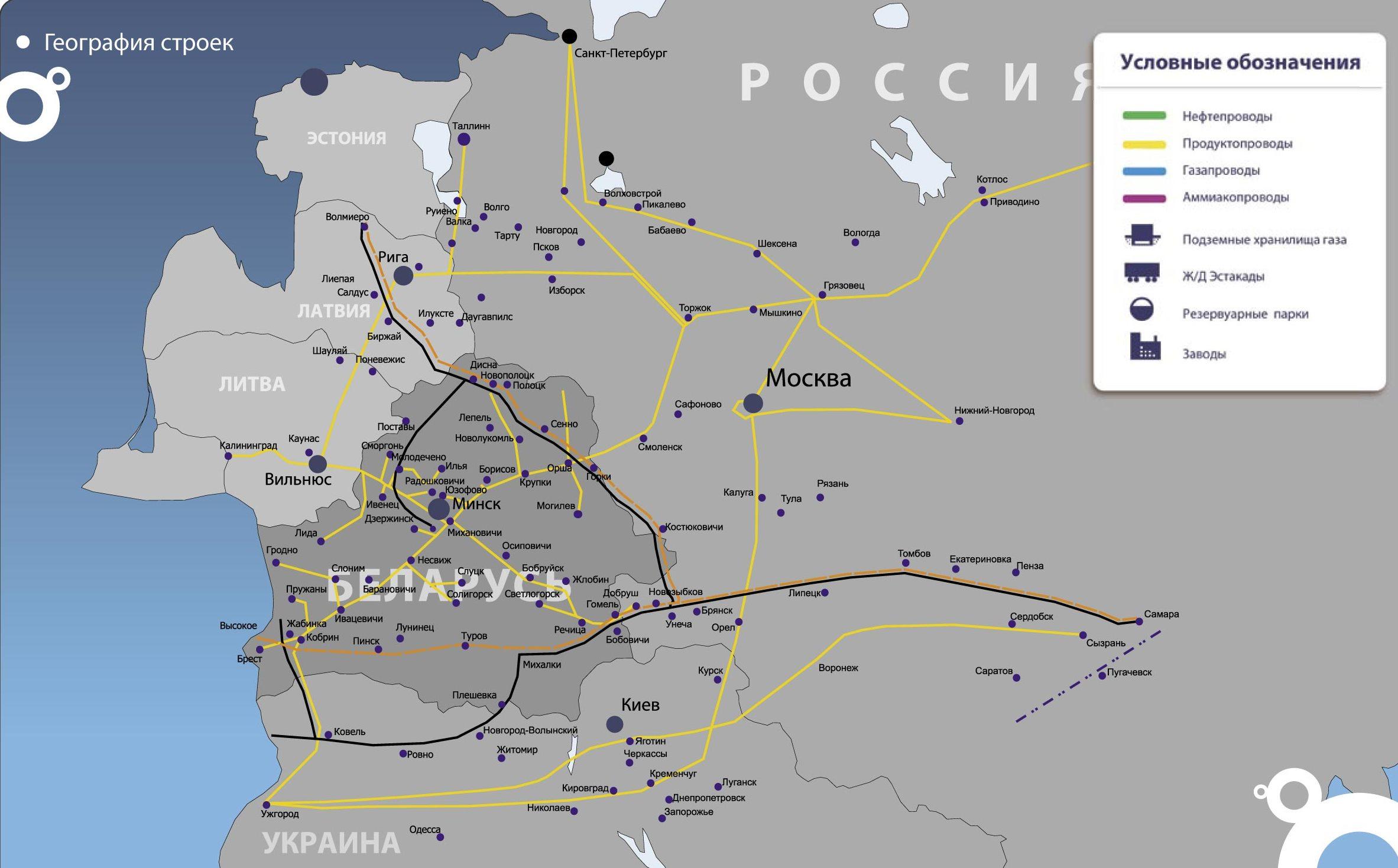 Белоруссия схема нефтепроводов