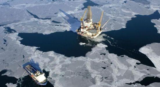 буровая платформа, шельф, Арктика, ледники,