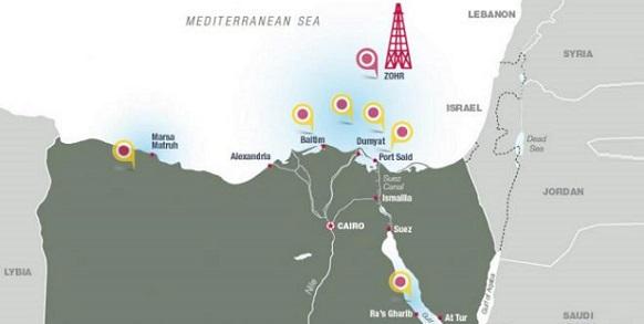 Нефтегазовые месторождения на севере Египта