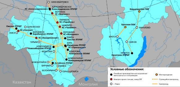 Западный маршрут Сила Сибири 2