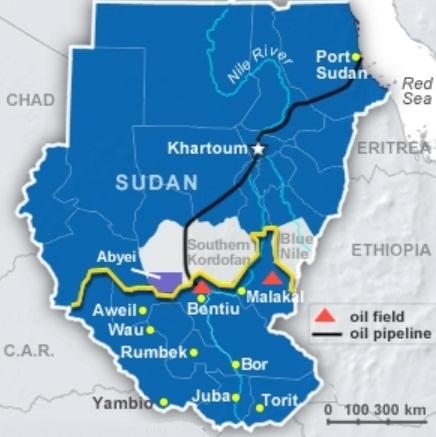 Судан и Южный Судан нефтепровод