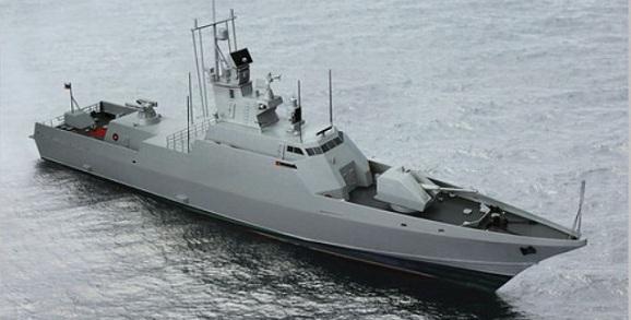 ВПетербурге наводу спустят новый корабль проекта 22800 «Тайфун»