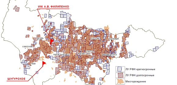 карта кустов сургутнефтегаза для навител