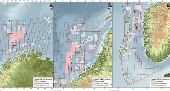 Лицензионный раунд на разработку континентального шельфа Норвегии на заранее определенных участках, Awards in Predefined areas 2017, APA 2017