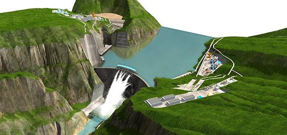 Проект ГЭС Байхэтань