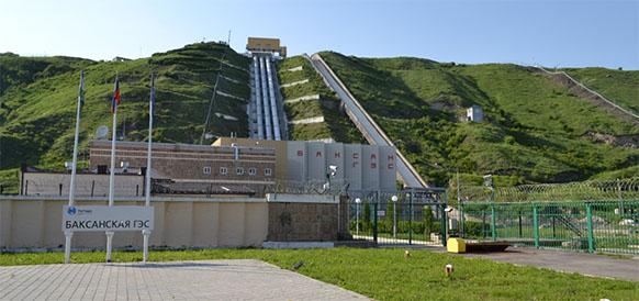 Баксанская ГЭС в Кабардино-Балкарской республике