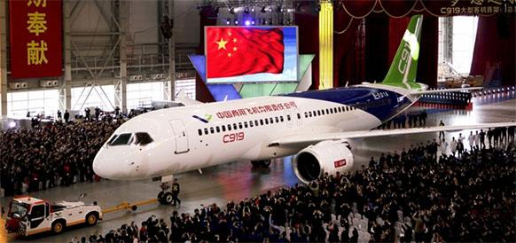 Китайский среднемагистральный самолет Comac C919