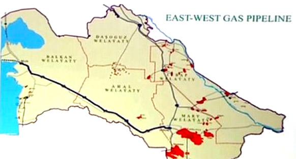 Магистральный газопровод Восток - Запад в Туркменистане