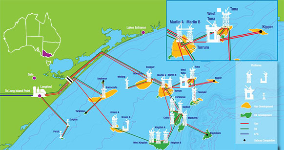 Уплатформы ExxonMobil нашельфе Австралии произошёл разлив нефти