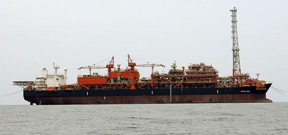 FPSO CYRUS, задействованное в хранении и отгрузке нефти на месторождении Южный Парс