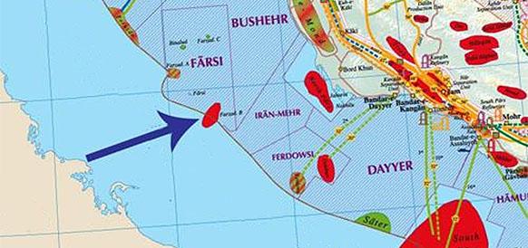 Месторождение Фазард-Б в Персидском заливе
