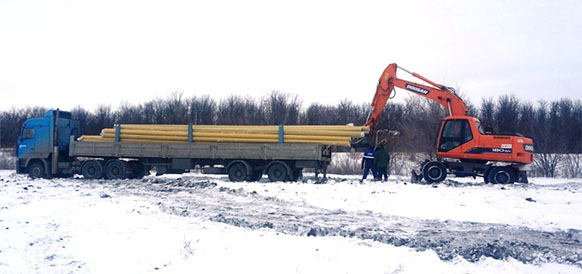 Строительство газопровода к аэропорту Центральный в Саратовской области