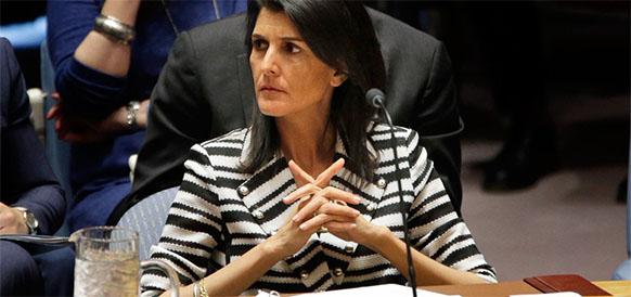 Постпред США при СовБезе ООН  Никки Хейли