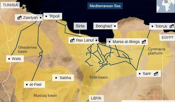 Насеверо-востоке Ливии взорван нефтепровод