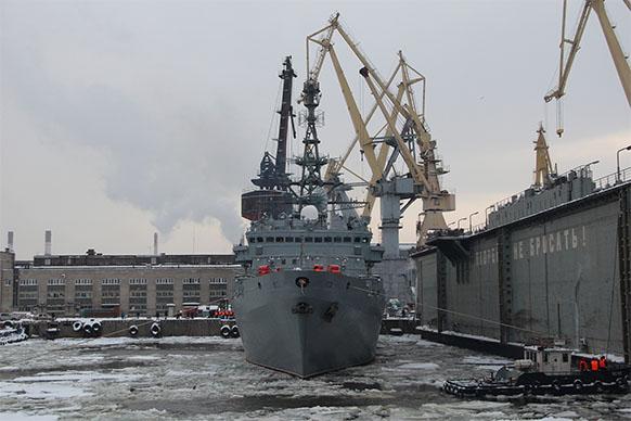 Судно связи «Иван Хурс» отправилось на испытания в Балтийское море