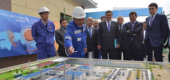 Церемония запуска КС №4 и №8 на нитке C МГП Казахстан - Китай