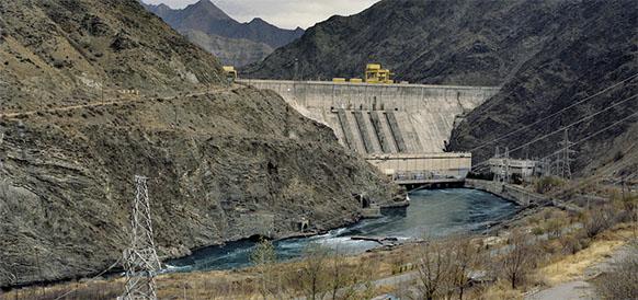 Камбаратинская ГЭС-2 на р Нарын в Кыргызстане