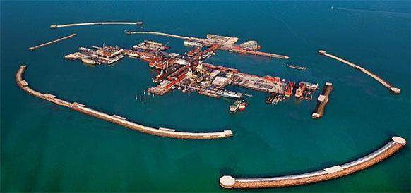 Кашаганское месторождение в казахстанском секторе Каспийского моря