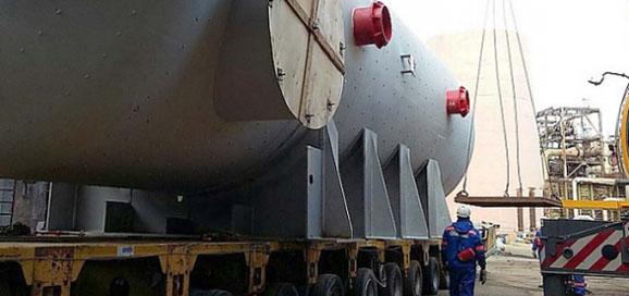 Доставка конденсатора-экономайзера на Астраханский ГПЗ Газпрома