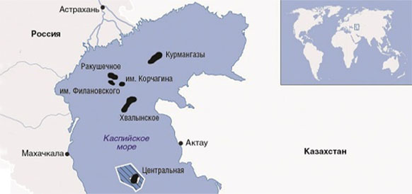 Месторождения на Северном Каспии