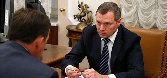 Губернатор Свердловской области Сергей Куйвашев и глава Россетей Олег Бударгин