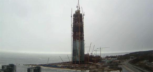 Строительство Лахта-центра в г Санкт-Петербурге по состоянию на 17 марта 2017 г