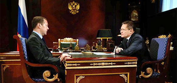 Встреча Д. Медведева и А. Лихачева