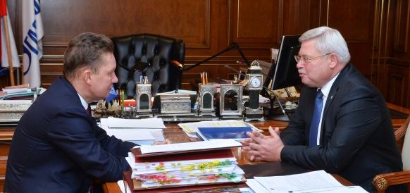 Алексей Миллер и Сергей Жвачкин