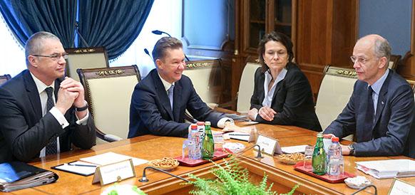 Председатель правления Газпрома Алексей Миллер и председатель правления BASF SE Курт Бок
