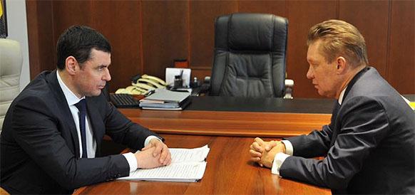врио губернатора Ярославской области  Дмитрий Миронов и глава Газпрома Алексей Миллер