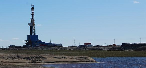 Буровая установка на Новопортовском месторождении. Фото Neftegaz.RU
