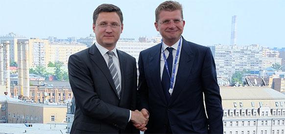 Министр энергетики РФ Александр Новак и министр экономики Словацкой Республики Петер Жига