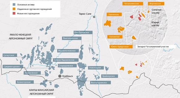 Западно-Чатылькинское, открытое в октябре 2016 г, является частью Отдаленной группы месторождений