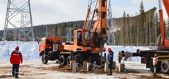 Буросвайные работы на ПС Пеледуй в республике Саха (Якутия)