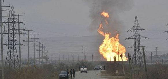 Пожар на МГП Газымамед в Азербайджане