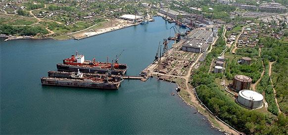 Порт Советская гавань в Хабаровском крае