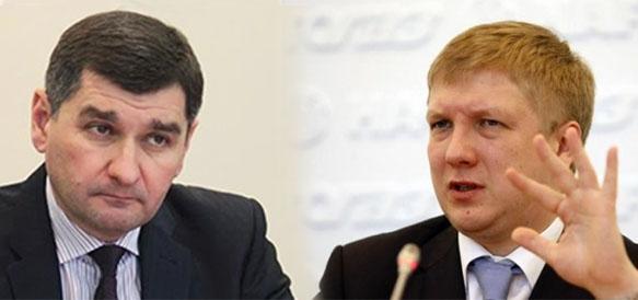 Глава Укртрансгаза Игорь Прокопьев и глава Нафтогаза Андрей Коболев