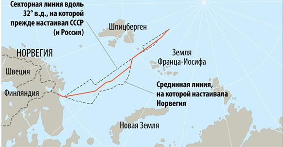 Спорный шельф баренцева моря