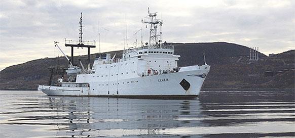 Гидрографическое судно Сенеж Северного флота ВМФ России