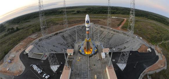 Ракета-носитель Союз-СТ на космодроме Куру
