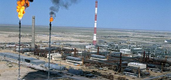 Тенгизское месторождение в Казахстане
