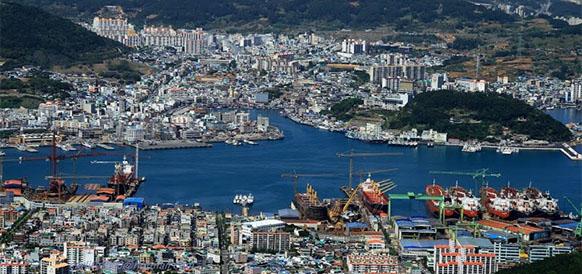Порт Тхонъён в Южной Корее