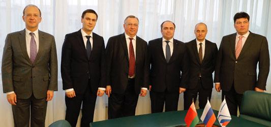 Встреча главы Транснефти Николая Токарева и главы Белнефтехима Игоря Ляшенко