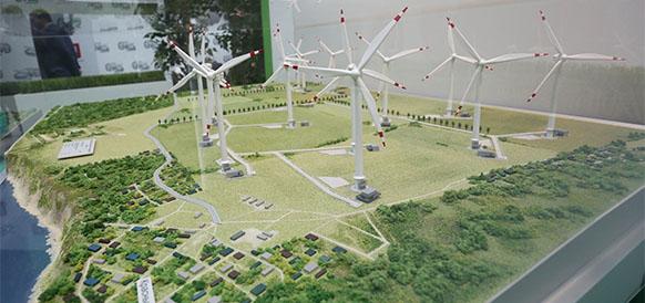 Макет ветропарка в Красном Яре Ульяновской области