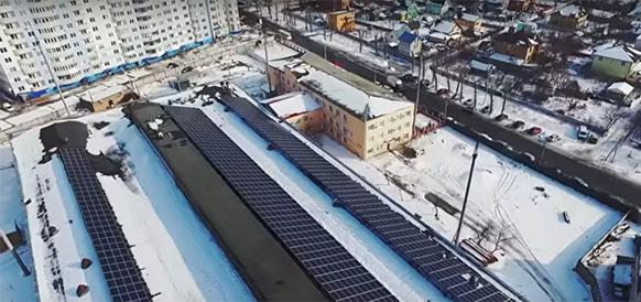 Солнечная электростанция на крыше здания Укргазтехсвязи в г Боярка