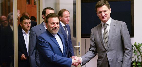 Министр связи и коммуникаций Ирана Махмуд Ваэзи и министр энергетики РФ Александр Новак