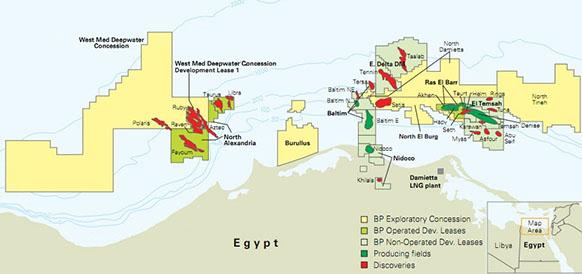 Проект West Nile Delta на шельфе Египта