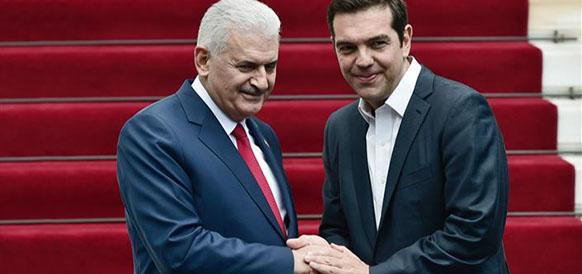 Премьер-министр Турции Бинали Йылдырым и премьер-министр Греции Алексис Ципрас