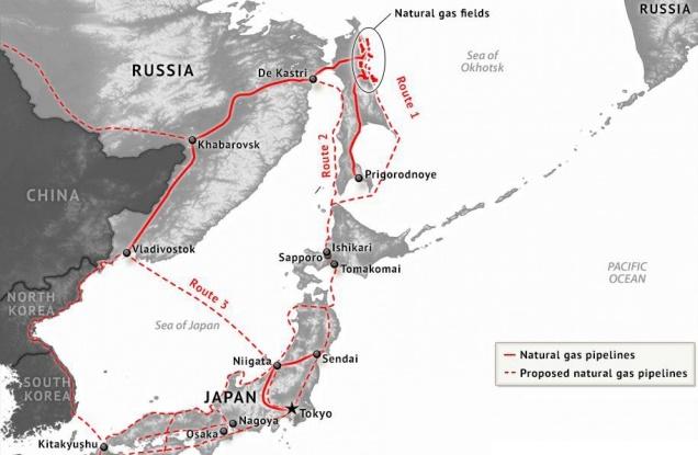 Вопрос поставок сетевого газа в Японию довольно сложен из-за его влияние на поставки СПГ